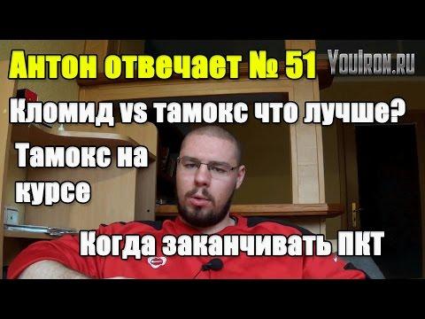 Антон Отвечает №51 КОГДА ЗАКОНЧИТЬ ПКТ. ТАМОКС VS КЛОМИД