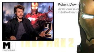 Iron Man 2 | Robert Downey Jr. interview - Don Cheadle - Rhodey (2010)
