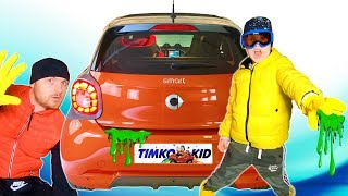 Timko and Papa Ride on car to a Toy Store | Who is Hiding in My Car?