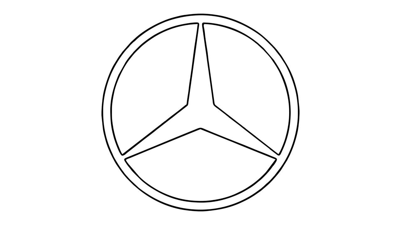 Wie Zeichnet Man Den Mercedes Benz Logo Symbol