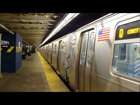 BMT Astoria Line: R160B Siemens Q Train at Queensboro Plaza