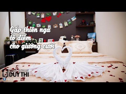 Trang trí giường cưới ấn tượng trong vòng 2 nốt nhạc