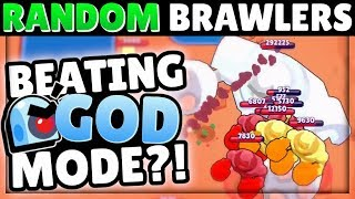 Trying to beat GOD MODE with RANDOM Brawlers! | WAY harder than we thought! | Feat. Lex & OJ