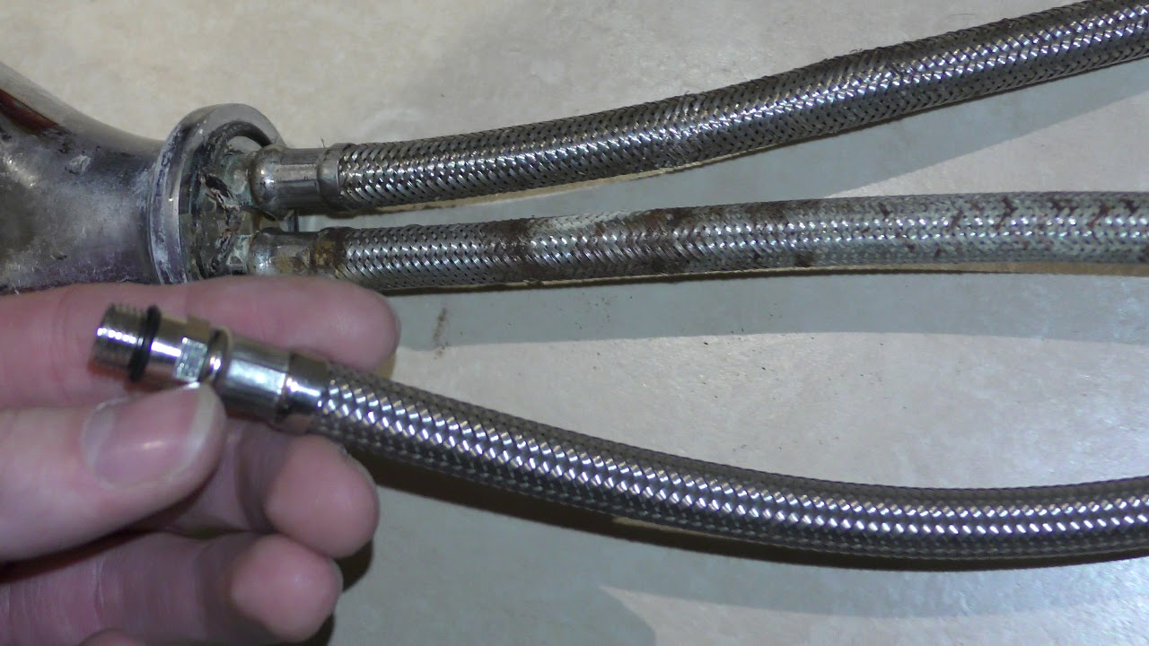 How To Extend A Flex Hose Pipe For Kitchen Tap Youtube