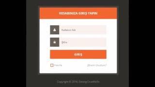 Login Panel - Giriş Paneli - Turuncu - Kırmızı - PSD + HTML