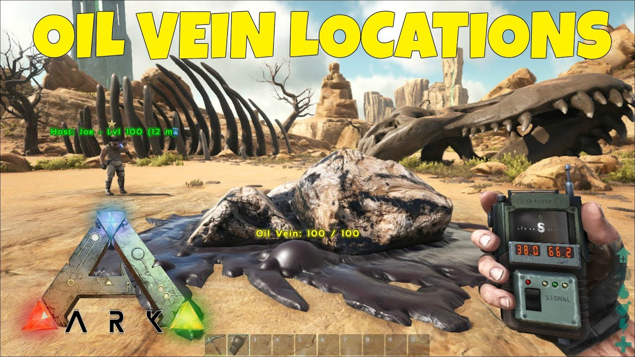 Oil Vein Locations (ARK Scorched Earth)