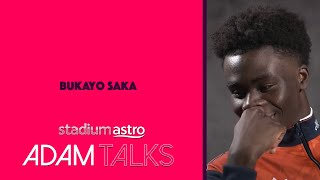 Exclusive: Bukayo Saka reveals favourite position & what it means to don No.7 shirt | Adam Talks