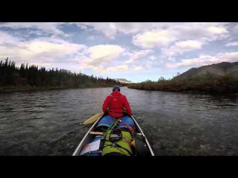 Iki Turk Yukon'da kano yapiyor. Two Turkish men are canoeing in Yukon. (Summer-2015
