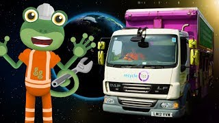 Recycling Trucks For Children   Gecko's Real Vehicles   Truck videos For Kids   Learning For Kids