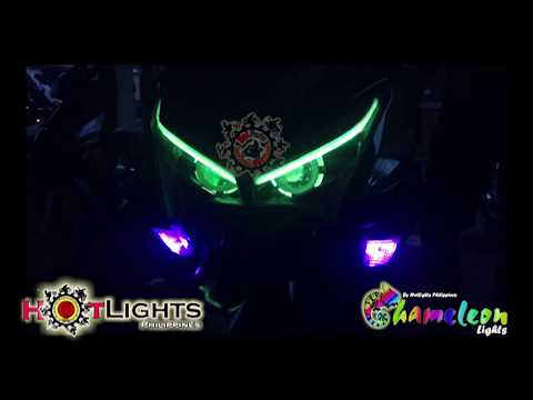 Mio Aerox 155 NVX 155  Chameleon Hybrid Led n HID Projector set up by HotLights Philippines