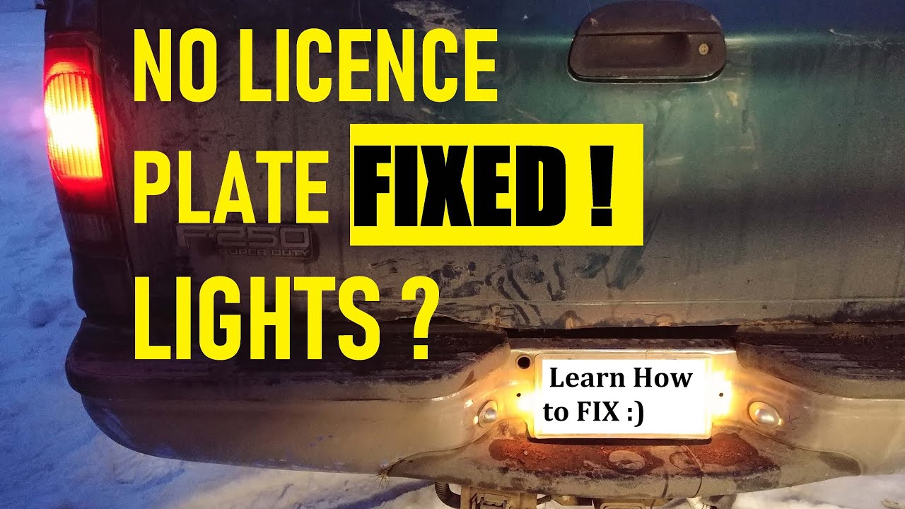 Troubleshooting Licence Plate Light Circuit Any Vehicle Fixed Youtube