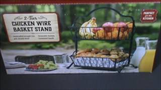 My quick review of Two-Tier Chicken Wire Basket Stand
