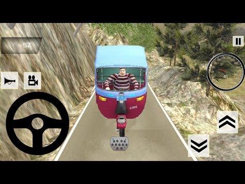 Tuk Tuk Auto Rickshaw Off Road Jungle Game || Tuk Tuk Auto Rickshaw Game || Rickshaw Racing Games 3D