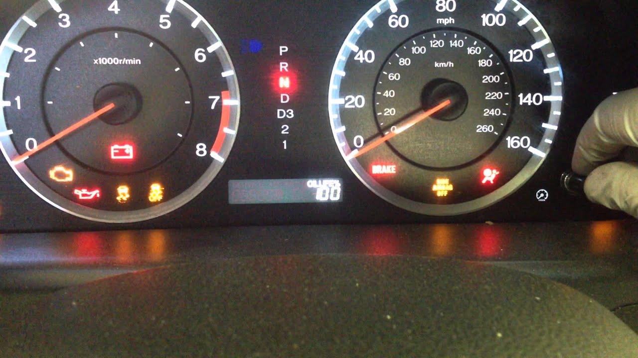 Reset Oil Maintenance Light  2010 to 2011 Honda Accord