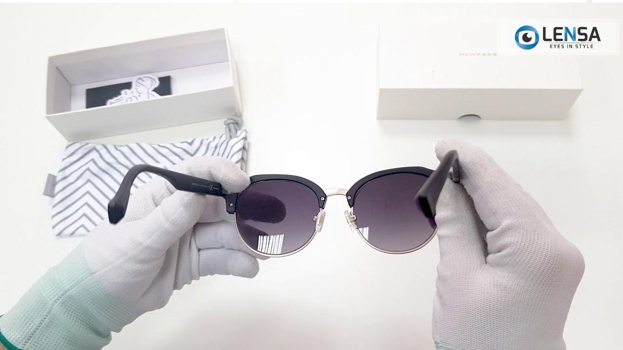 Unboxing ochelari de soare unisex ROCTR01 RUBBER BLACK GRADIENT CLASSIC  ROUNDED – LENSA.RO 40642cf00b1