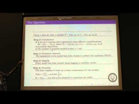 NIPS 2014 Workshop - (Diaz-Morales) High-energy particle physics, machine learning, and the HiggsML