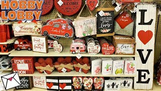 Hobby Lobby VALENTINE'S DAY DECOR IDEAS SHOP WITH ME 2019