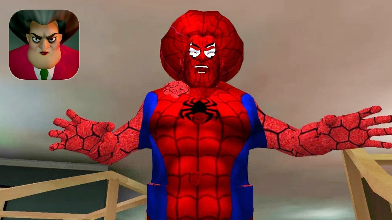 Scary Teacher 3D New Teacher Spider-Man Part 2 Gameplay Walkthrough (IOS ANDROID)