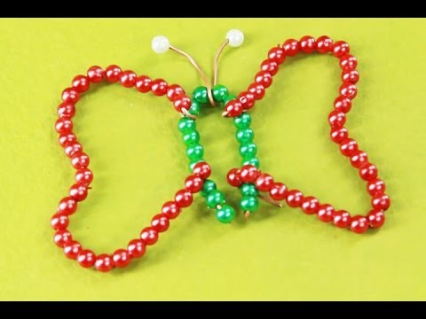 How to make a beads butterfly art and craft youtube for Pearl arts and crafts closing