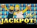 ★ CRAZY JACKPOT! ★ THE SIMPSONS slot machine JACKPOT HANDPAY WIN !