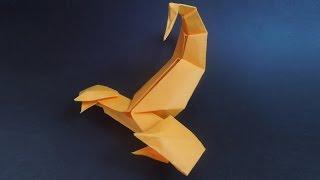 Как сделать скорпиона из бумаги. Оригами скорпион из бумаги.