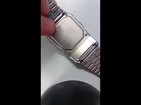 How to turn off or mute the button sounds on a Casio Databank DBC 610 watch.