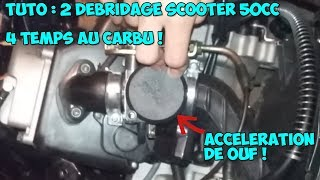 Facile : Débridage scooter 50cc 4temps au carbu ! #2