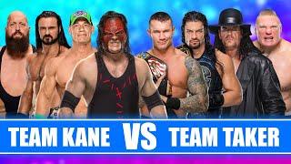 Kane John Cena Big Show Drew McIntyre vs Brock Lesnar Orton Reigns The Undertaker