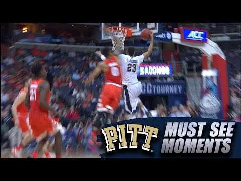 Pitt's Cameron Johnson Dunk On Fast Break | ACC Must See Moment
