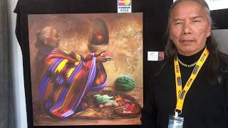 Santa Fe Indian Market 2018 - Artist Interviews | Donn Clark - Painting