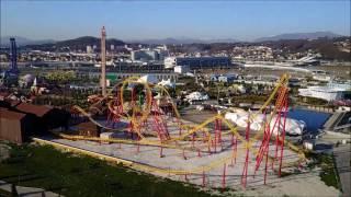 Сочи Парк  Парк развлечений и аттракционов в Олимпийском парке  Смотрим с квадрокоптера