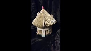 Book folding Fairy house / How to book fold a fairy house / Bird cage