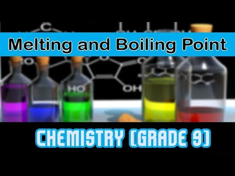 Characteristics of Element | Melting Point and Boiling Point | Gradation of Physical Property