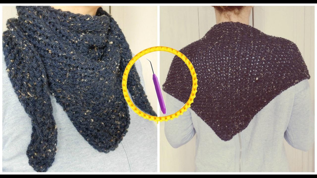 Extrêmement Tricotin - Chèche I Loom Knitting - YouTube EH41