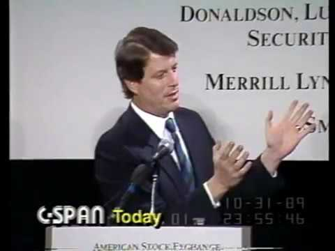 American Stock Exchange Conference: Al Gore, Bill Bradley on the Markets (1989)