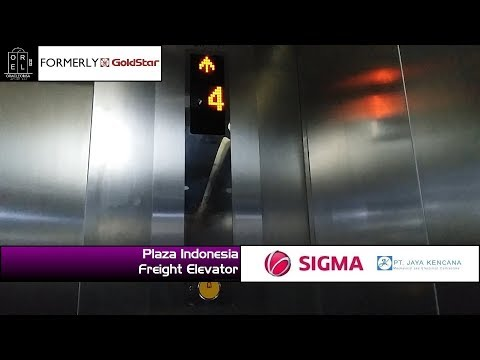 Sigma (Formerly GoldStar) Freight Elevator at Plaza Indonesia