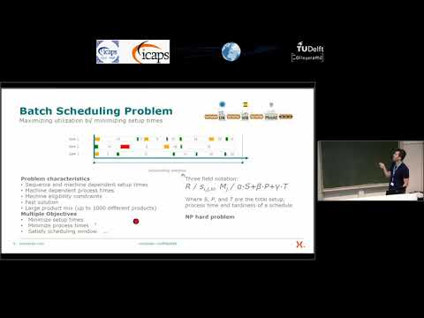 "ICAPS 2018: Jelle Adan on ""A Hybrid Genetic Algorithm for Parallel Machine Scheduling at ..."""