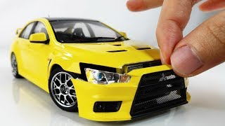 Building a Perfect Tiny Mitsubishi Lancer Evo X Step by Step
