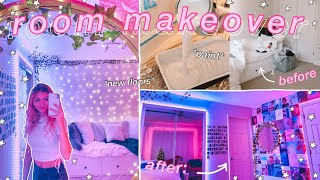 EXTREME ROOM MAKEOVER: my NEW room!! *aesthetic/tiktok/pinterest inspired bedroom*
