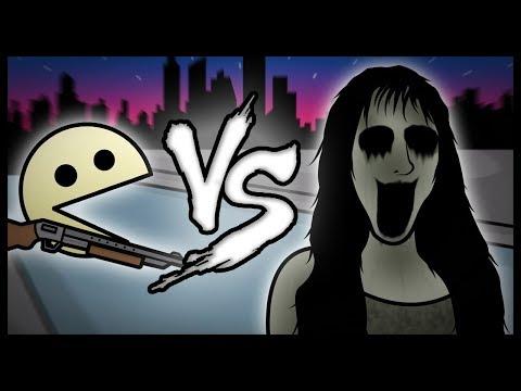 Pacman VS La Niña Fantasma