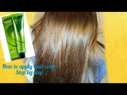Step by step na pgkulay ng buhok. From natural black hair to lighter blonde hair/bremod brand