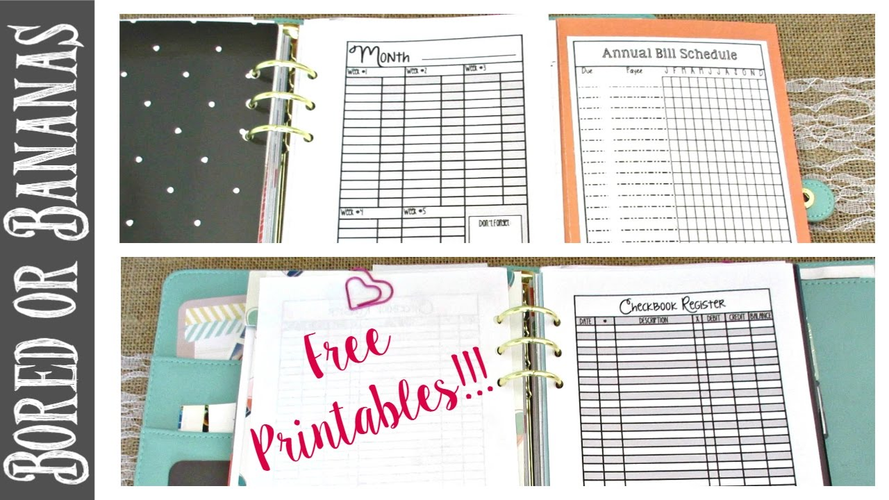 photograph regarding Budget Printables Free named A5 Planner Spending plan Portion Walkthrough + No cost Spending plan Printables