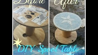 Diy Spool Table Star Design