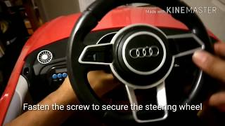 Audi TT RS battery powered ride-on assembly