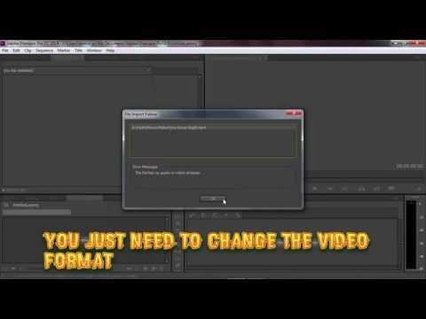 How To Fix Adobe Premiere Pro Error The File Has No Video Or Audio Stream