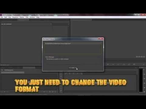 How To Fix Adobe Premiere Pro Error The File Has No Video Or Audio Stream