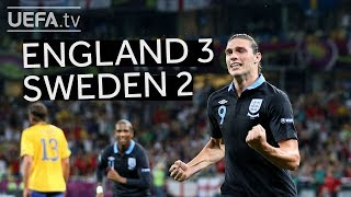 ENGLAND secure first ever competitive win over SWEDEN at EURO 2012