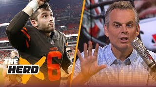 Colin Cowherd on Baker Mayfield's debut, Hue Jackson undecided on QB for Week 4 | NFL | THE HERD