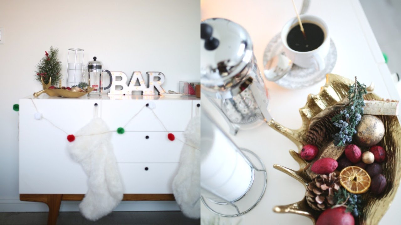 DIY Holiday Coffee & Tea Bar! Holiday Party Decor! 🎄 🎅🏻 - YouTube