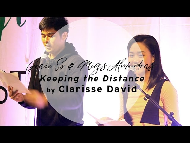 #AprilFeelsDay2017 - Keeping the Distance by Clarisse David (perf. by Migs Almendras & Graie So)